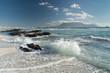 Kapstadt-Blick zum Tafelberg vom Bloubergstrand Beach
