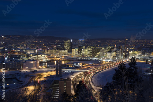 Fotografering  Oslo Skyline winter morning
