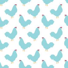 Sweet Chicken Seamless Pattern