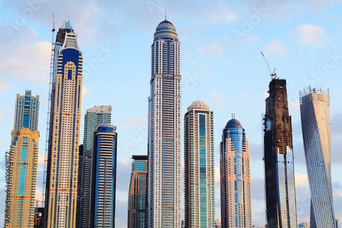 Photo  Rising skyscrapers of Dubai Marina
