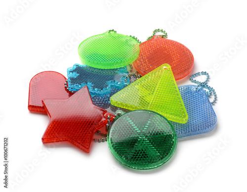 Obraz Pile of safety reflectors  - fototapety do salonu
