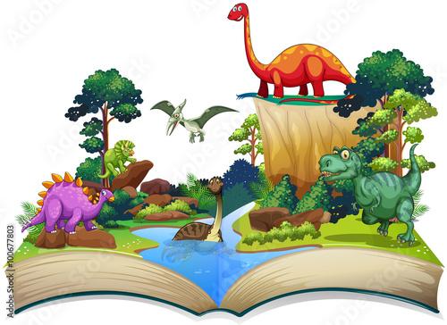 ksiega-dinozaurow-w-lesie