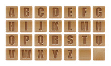 Alphabet Letters On Wooden Iso...