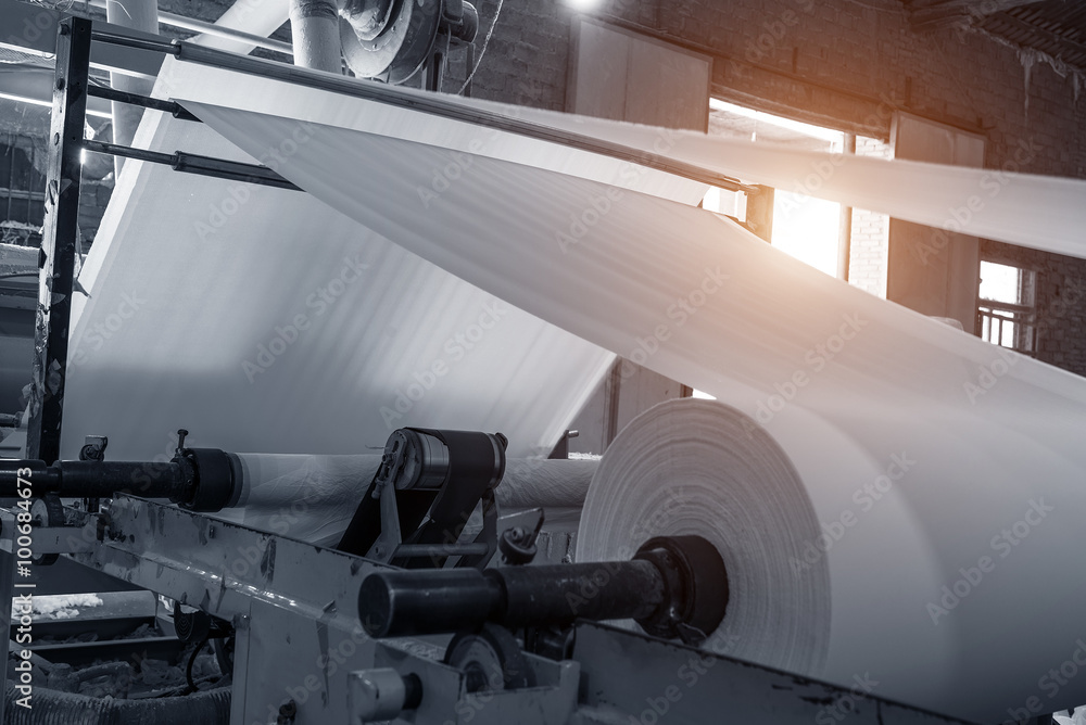 Fototapety, obrazy: Paper and pulp mill
