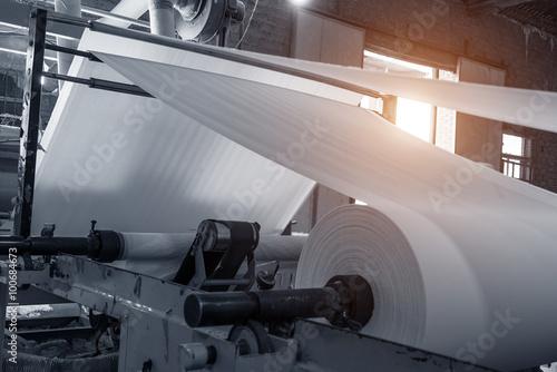 Fotografie, Obraz  Paper and pulp mill