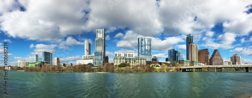 Poster Texas Panorama of the Austin, Texas, skyline