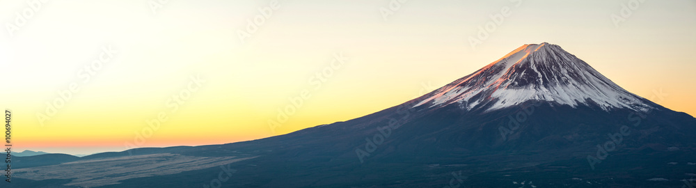 Mountain Fuji sunrise Japan panorama