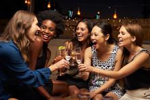 Group Of Female Friends Enjoyi...