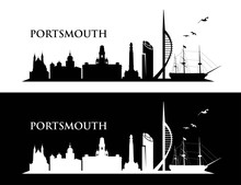 Portsmouth UK Skyline