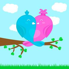 Zakochane ptaki - Walentynki