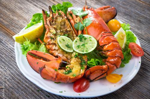 Grilled lobster Fototapeta
