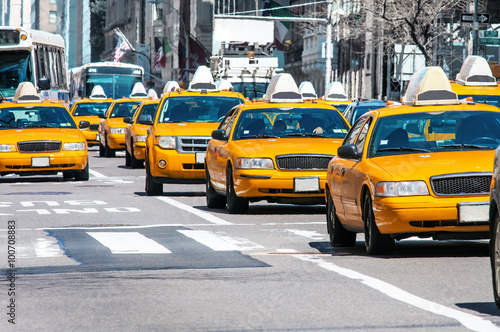 Photo sur Aluminium New York TAXI Yellow Taxi