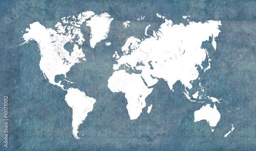 Obrazy wieloczęściowe mapa świata