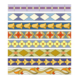 stained glass seamless patterns