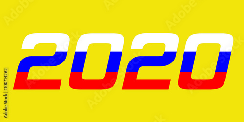 Poster  2020 Year.Russia