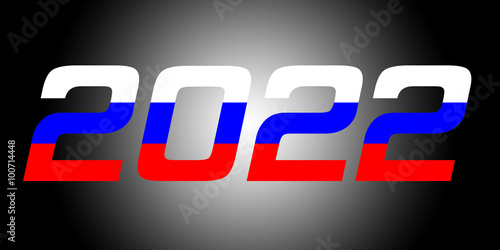 Poster  2022 Year.Russia