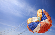 The Dome Of A Parachute In The Sky