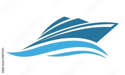 Fotografia  boat logo design