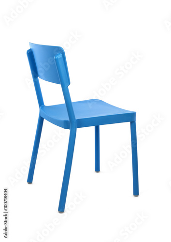 Stupendous Blue Plastic Cafe Chair On White Background Three Quarter Alphanode Cool Chair Designs And Ideas Alphanodeonline