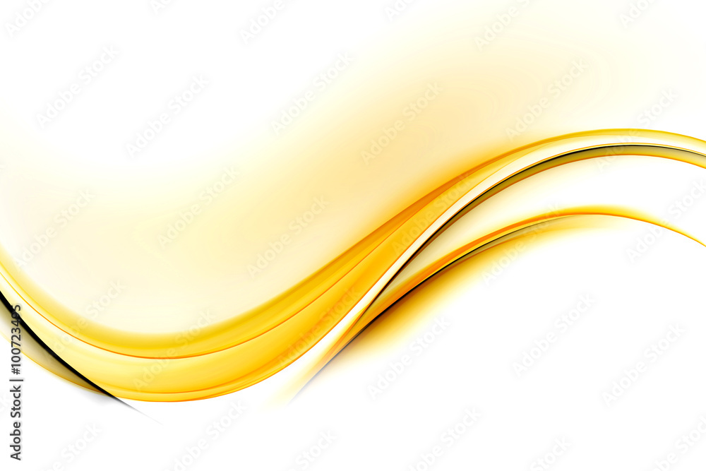 Fototapeta Awesome Abstract Yellow Wave Design