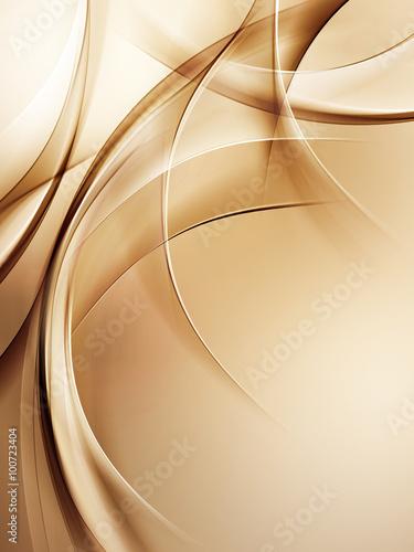 Naklejki na drzwi   abstract-fractal-gold-wave-design-background