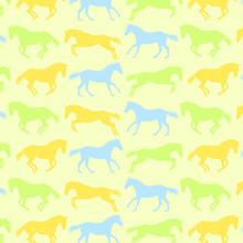 Horses Pattern Vector Backgrou...