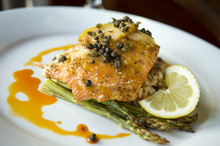 Wild Salmon Fillet With Capers...