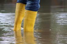 Stiefel Im Hochwasser