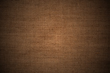 Retro Style Background: Close Up Of Burlap Fabric