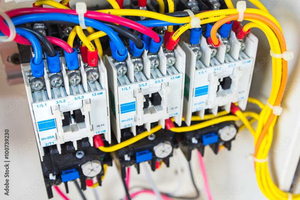 Swell Photo Art Print Close Up Circuit Breakers And Wire In Control Wiring Cloud Favobieswglorg
