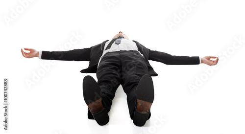 Fotografie, Obraz  businessman lying on ground