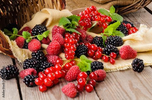 Cuadros en Lienzo Fruta del bosque