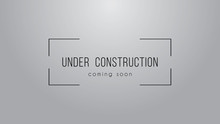 Under Construction Simple Sign...