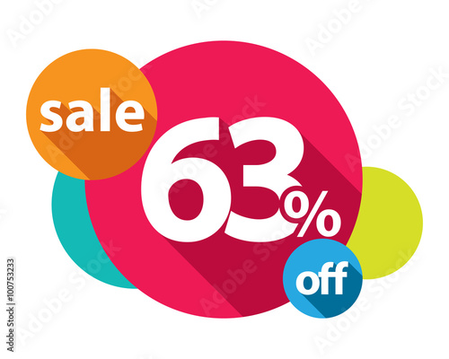 Αφίσα  63% discount logo colorful circles