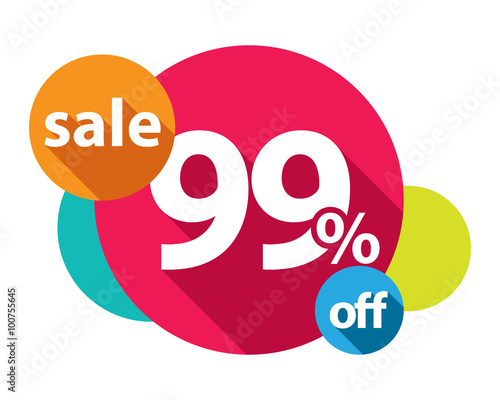 Photographie 99% discount logo colorful circles