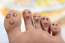 Fuß Zehen Smiley Wohlfühlen