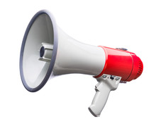 Bullhorn On White