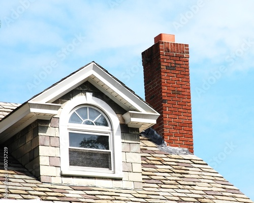 Close up chimney on the roof Canvas-taulu
