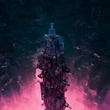 Glass technocore city / 3D render of futuristic science fiction structure - 100757404