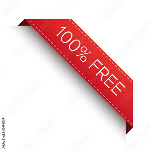 Fotografía  100% free corner ribbon