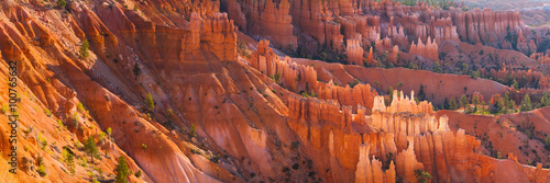 Photo  Panorama of the Spires of Bryce Canyon at Sunset