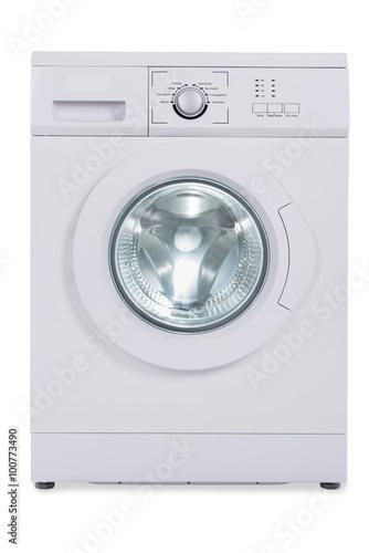 Fotografie, Obraz  Washing Machine Over White Background