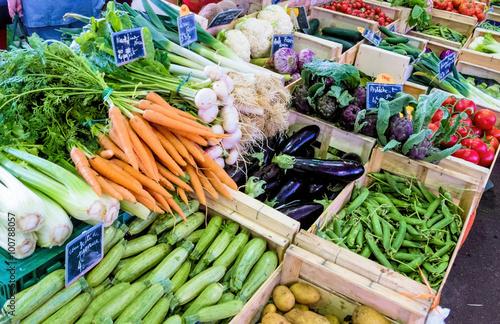In de dag Groenten Auswahl an Gemüse
