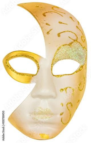 Masque Arlequin Carnaval Venise Fond Blanc Buy This Stock Photo
