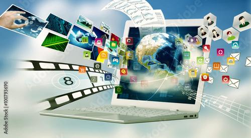Fotografía  Multimedia Internet Laptop