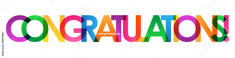 """Valokuva  """"CONGRATULATIONS"""" Colourful Letter Banner"""