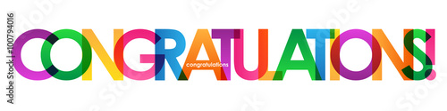 "Fotografering  ""CONGRATULATIONS"" Colourful Letter Banner"