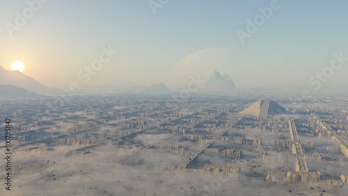 ruinas laberínticas del desierto Tablou Canvas