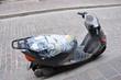 geflicktes Moped auf der Insel Kreta