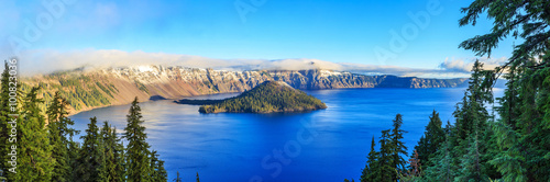 Wall Murals Lake Crater Lake National Park in Oregon, USA